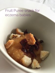 fruit puree snack for eczema babies