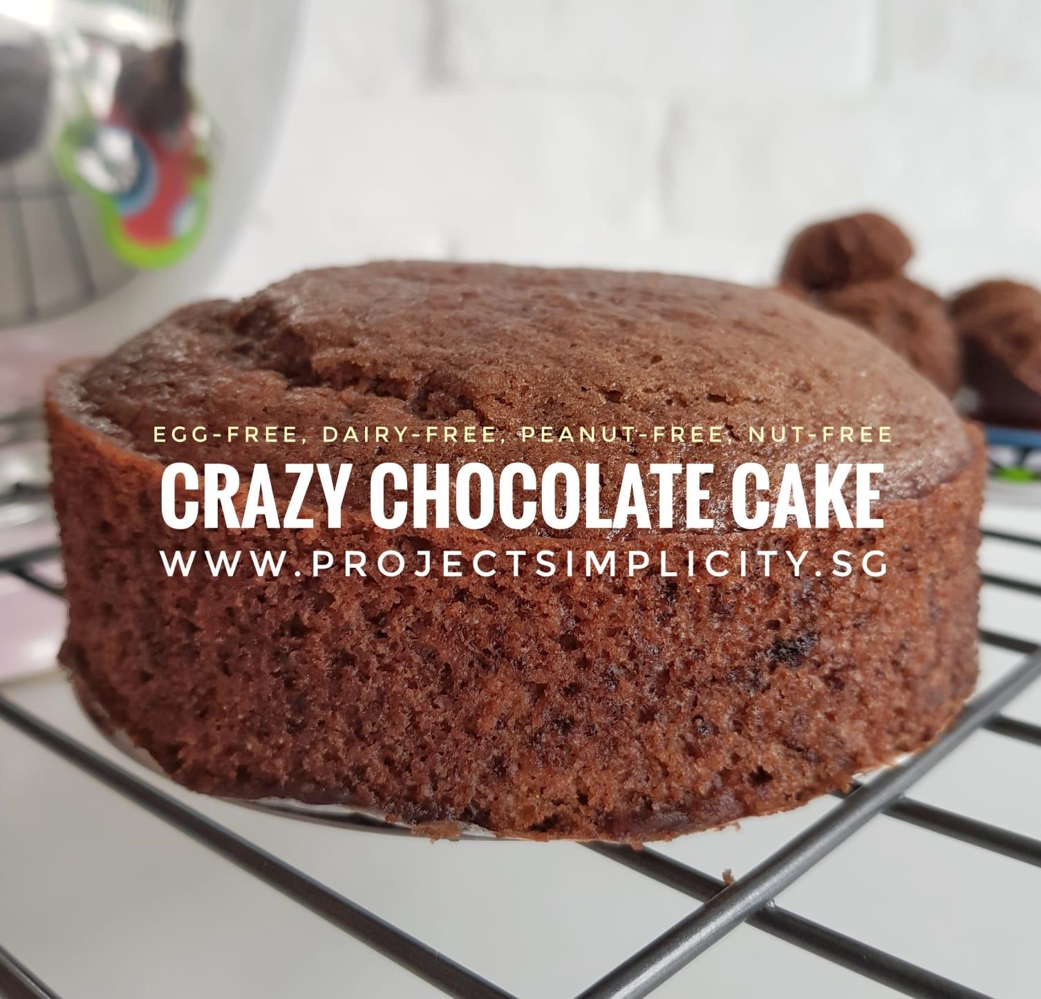 Egg Dairy And Nut Free Crazy Chocolate Cake Recipe
