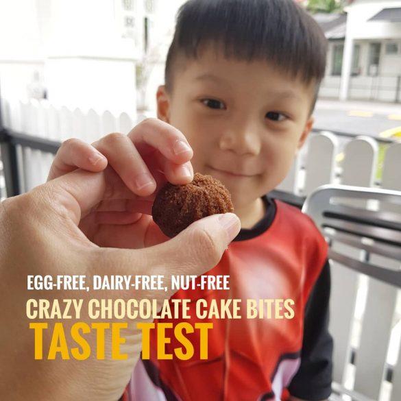 egg, dairy, peanut and nut free crazy chocolate cake