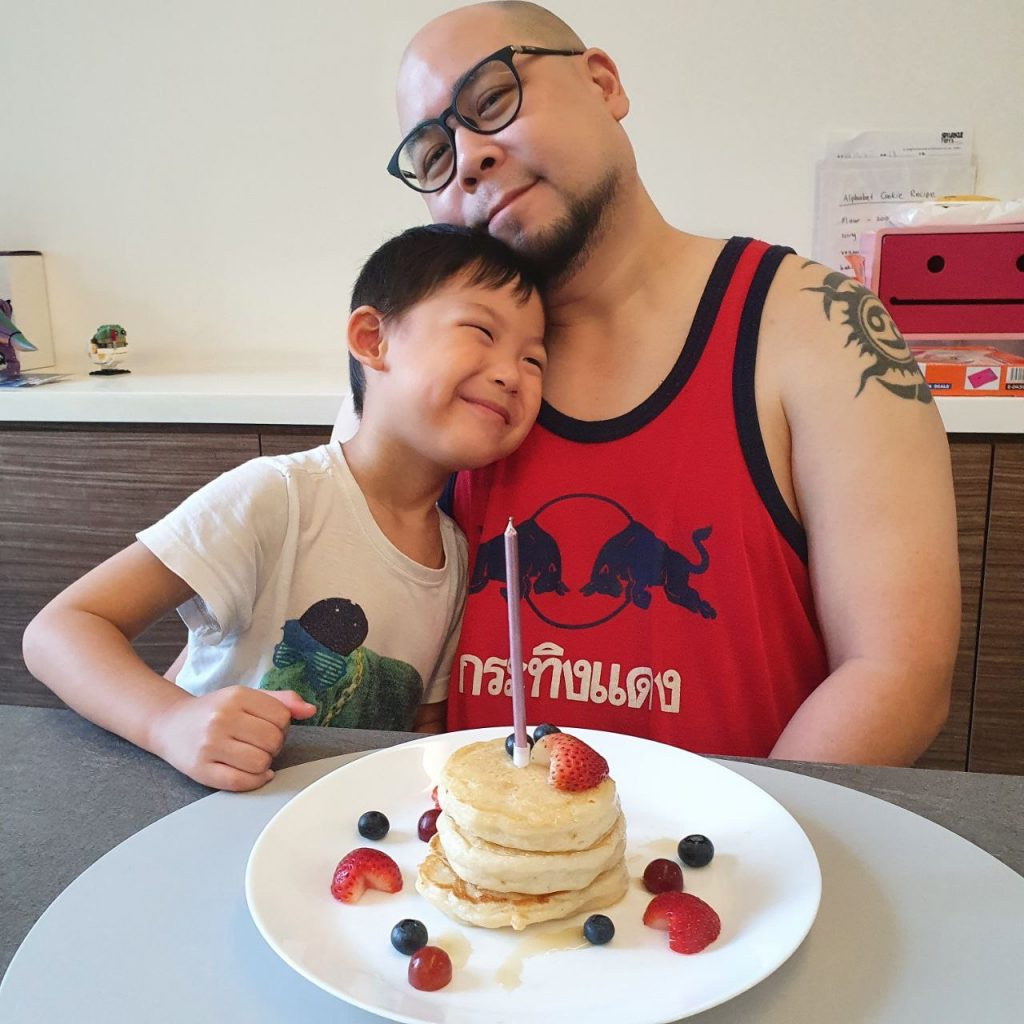 Happy birthday daddy 2021 fluffy vegan pancakes